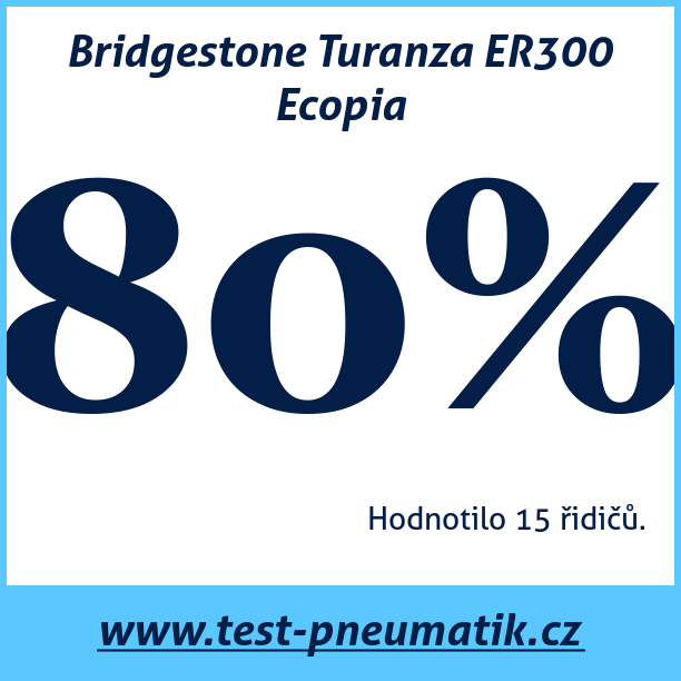 Test pneumatik Bridgestone Turanza ER300 Ecopia