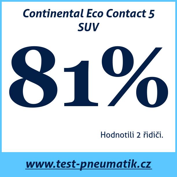 Test pneumatik Continental Eco Contact 5 SUV