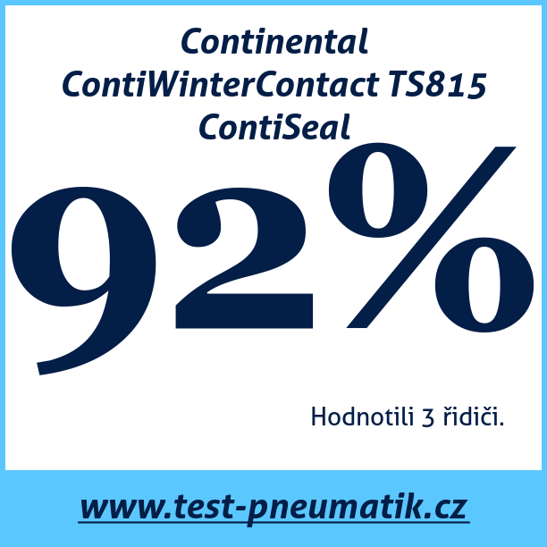 Test pneumatik Continental ContiWinterContact TS815 ContiSeal