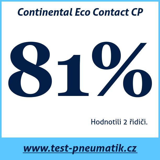 Test pneumatik Continental Eco Contact CP
