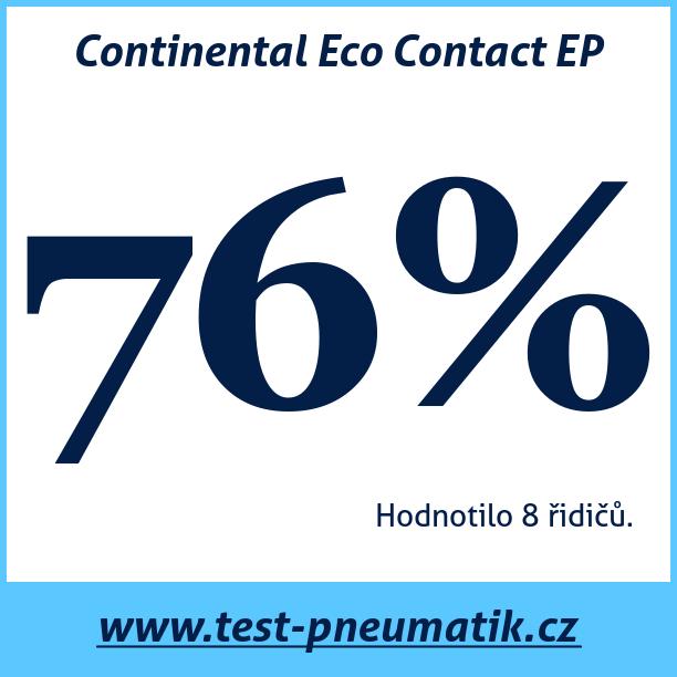 Test pneumatik Continental Eco Contact EP