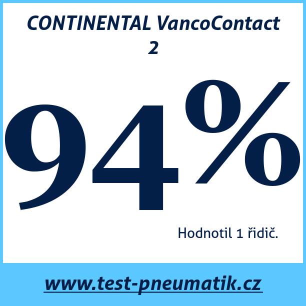 Test pneumatik CONTINENTAL VancoContact 2