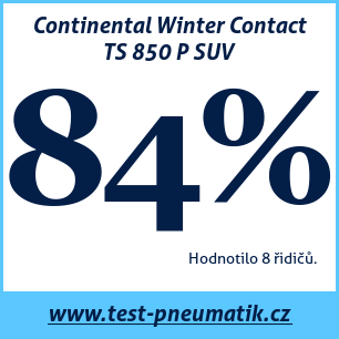 Test pneumatik Continental Winter Contact TS 850 P SUV