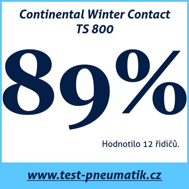 Test pneumatik Continental Winter Contact TS 800