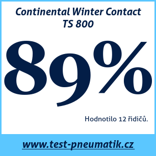 Test pneumatik Continental Winter Contact TS 800