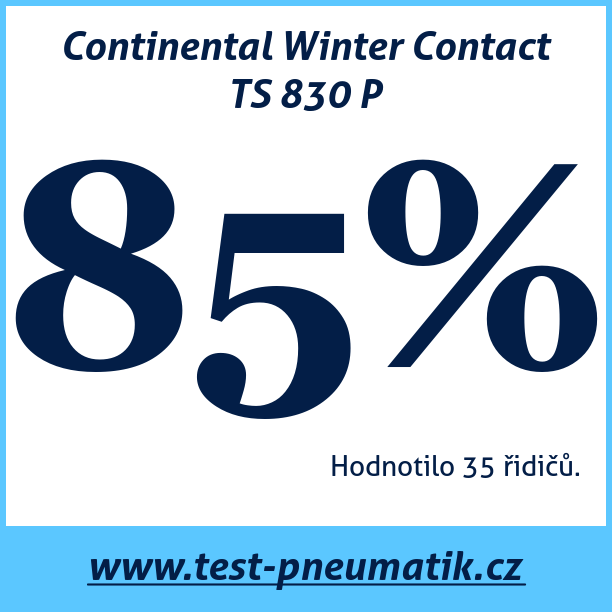 Test pneumatik Continental Winter Contact TS 830 P