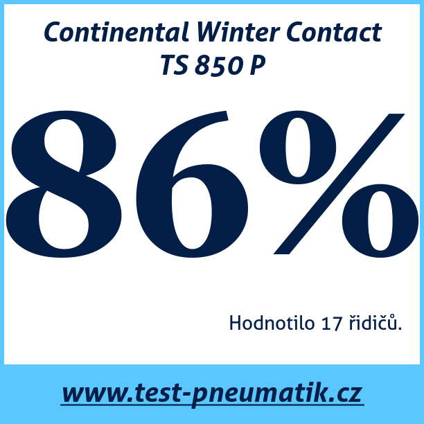 Test pneumatik Continental Winter Contact TS 850 P
