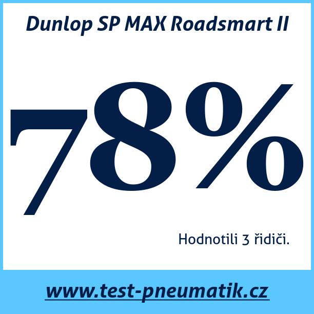 Test pneumatik Dunlop SP MAX Roadsmart II