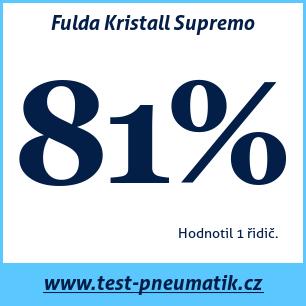 Test pneumatik Fulda Kristall Supremo