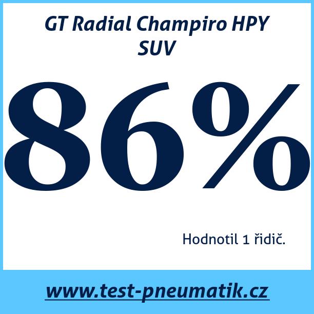 Test pneumatik GT Radial Champiro HPY SUV