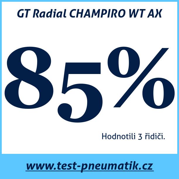 Test pneumatik GT Radial CHAMPIRO WT AX
