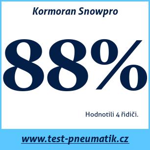 Test pneumatik Kormoran Snowpro