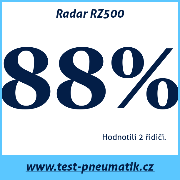 Test pneumatik Radar RZ500