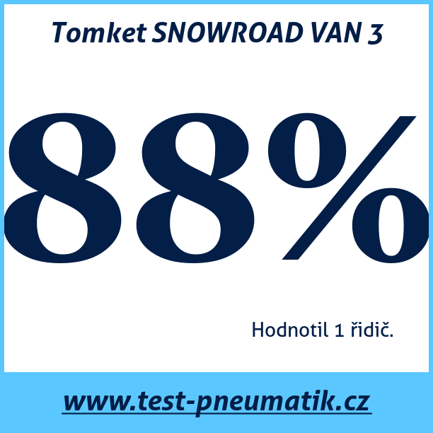 Test pneumatik Tomket SNOWROAD VAN 3