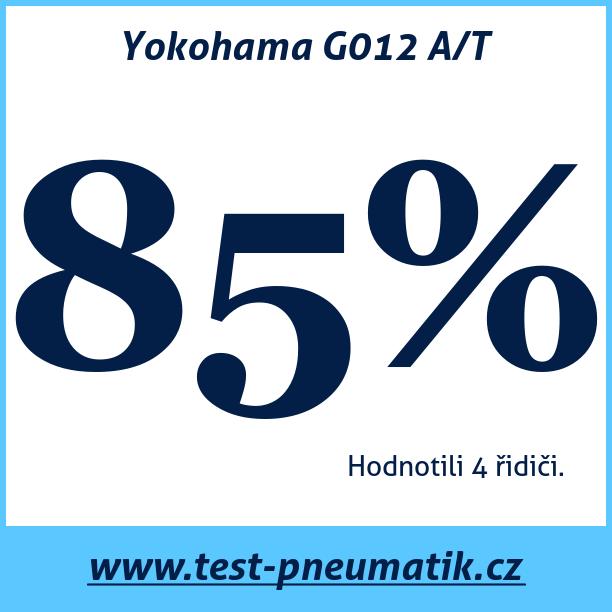 Test pneumatik Yokohama G012 A/T