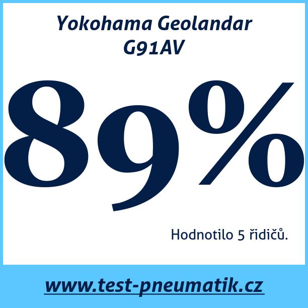 Test pneumatik Yokohama Geolandar G91AV