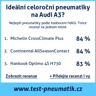 Test pneumatik na Audi A3