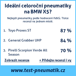 Test pneumatik na BMW X5