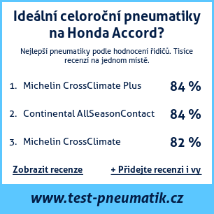 Test pneumatik na Honda Accord