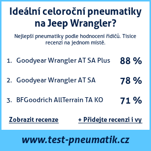 Test pneumatik na Jeep Wrangler