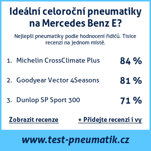 Test pneumatik na Mercedes Benz E