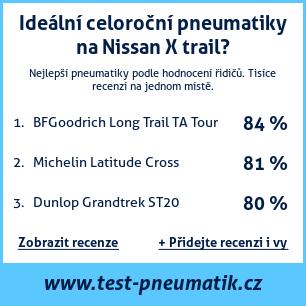 Test pneumatik na Nissan X trail