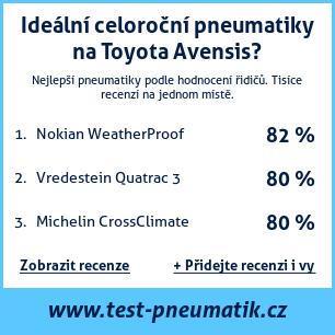 Test pneumatik na Toyota Avensis