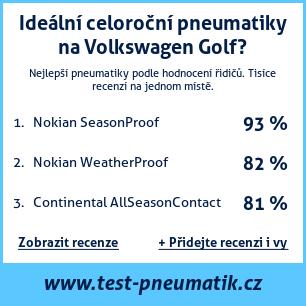 Test pneumatik na Volkswagen Golf