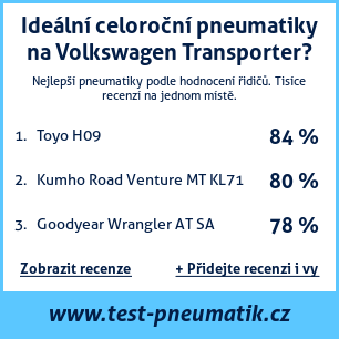 Test pneumatik na Volkswagen Transporter