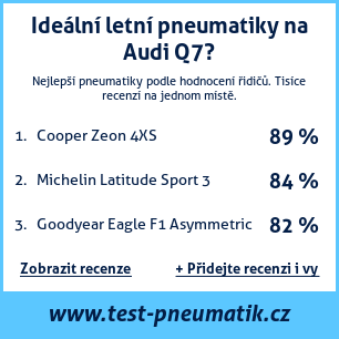 Test pneumatik na Audi Q7