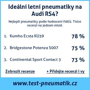 Test pneumatik na Audi RS4