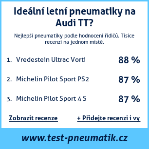 Test pneumatik na Audi TT