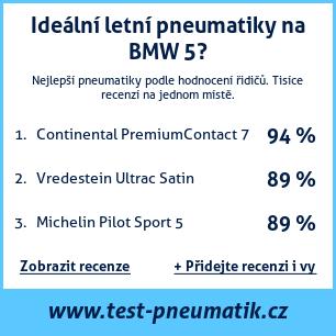 Test pneumatik na BMW řada 5