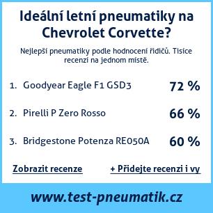 Test pneumatik na Chevrolet Corvette
