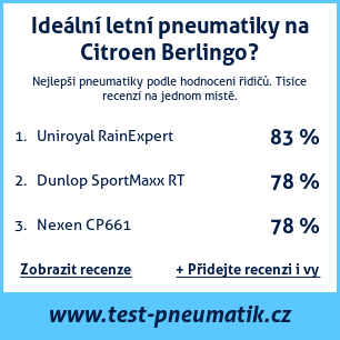 Test pneumatik na Citroen Berlingo