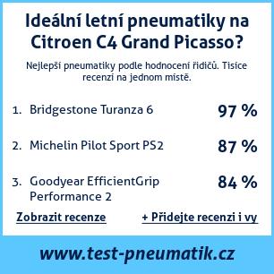Test pneumatik na Citroen C4 Grand Picasso