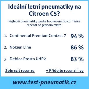 Test pneumatik na Citroen C5