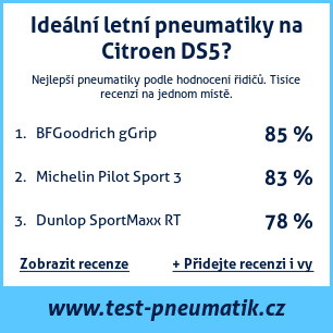 Test pneumatik na Citroen DS5