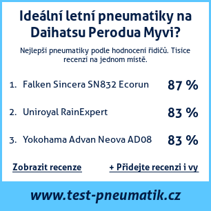 Test pneumatik na Daihatsu Perodua Myvi