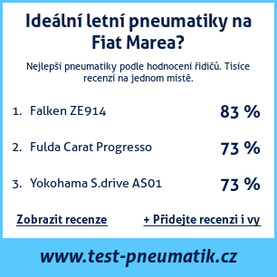 Test pneumatik na Fiat Marea