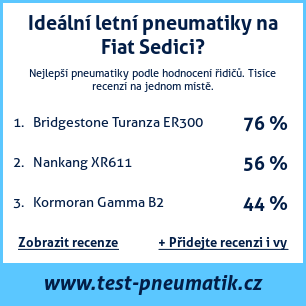Test pneumatik na Fiat Sedici