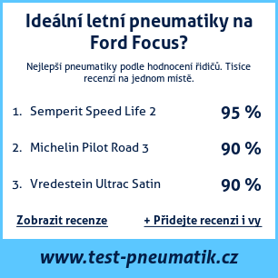 Test pneumatik na Ford Focus