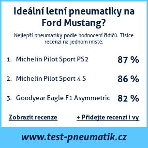 Test pneumatik na Ford Mustang