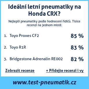 Test pneumatik na Honda CRX