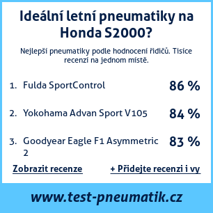 Test pneumatik na Honda S2000