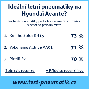 Test pneumatik na Hyundai Avante