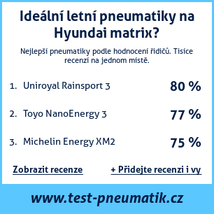 Test pneumatik na Hyundai matrix