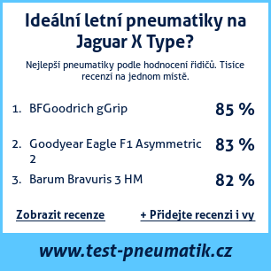 Test pneumatik na Jaguar X Type