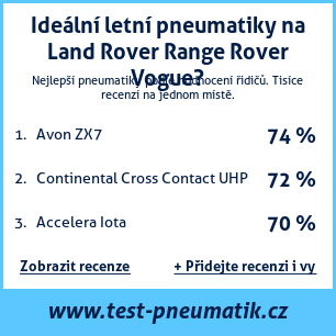 Test pneumatik na Land Rover Range Rover Vogue