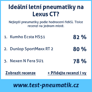 Test pneumatik na Lexus CT